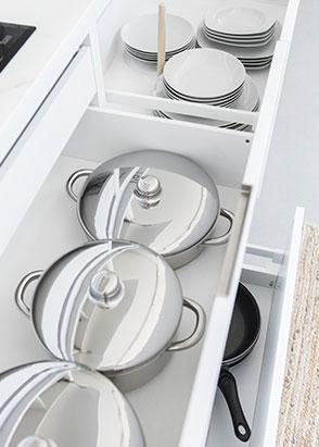 Muebles de cocina para almacenamiento