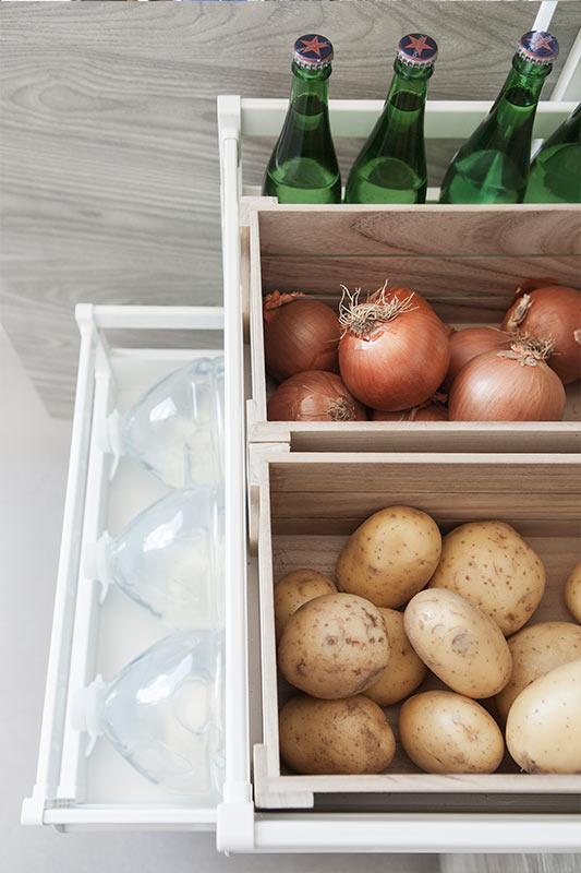 Soluciones de almacenamiento para cocinas