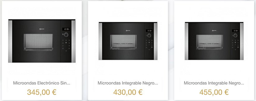 Tienda de Microondas Online