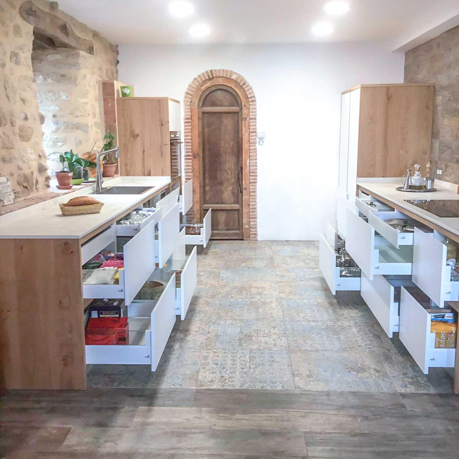 Cocina rústica y moderna